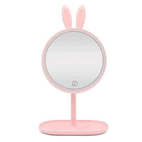 Make-upspiegel LED licht slaapkamer opvouwbare bureau make-up spiegel 90° draaibaar 3 Archief-instellingen helderheid onderlegger