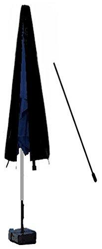 HBCOLLECTION® Housse Respirante avec Tige pour Parasol Droit 250cm (Noir)