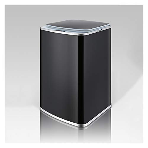 NYKK Papeleras La Basura de inducción Inteligente Creativa Puede Lata de Basura de Metal para el hogar con Tapa Recargable de Basura automática, Oficina de Cocina en casa