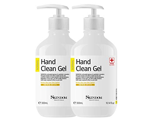 Hand Sanitizer Clean Gel with Aloe Vera and Moisturizing Agents, Kills 99.99% of Germs, (2 Pack x 10.14 Fl Oz)