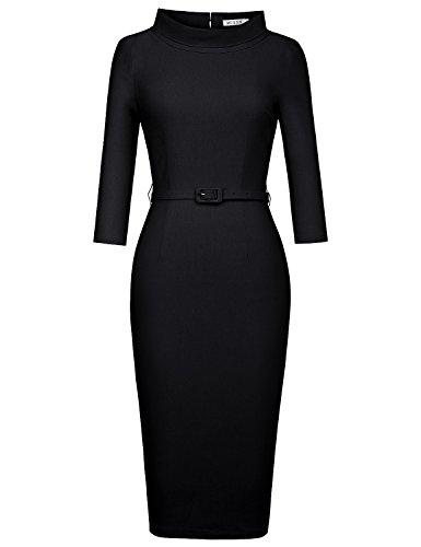 MUXXN Women's 1950s Vintage 3/4 Sleeve Elegant Collar...