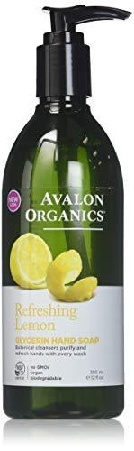 Avalon Organics Lemon Glycerin Hand Soap, 12 Ounce Bottles (Pack of 4)
