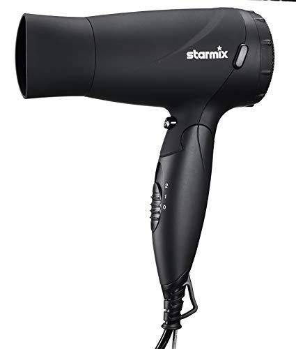 Starmix Hand-Haartrockner HFF 16, klappbarer Griff und edle, schwarze Softtouch Oberfläche, 2 Leistungsstufen (1600 Watt)