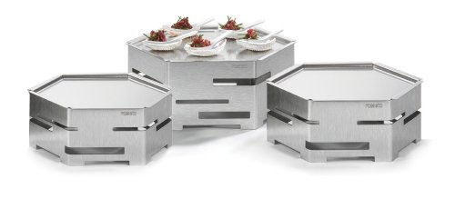 Rosseto Serving Solutions SK021 Honeycomb Stainless Steel Buffet Riser Cooler Kit with Ice Bath
