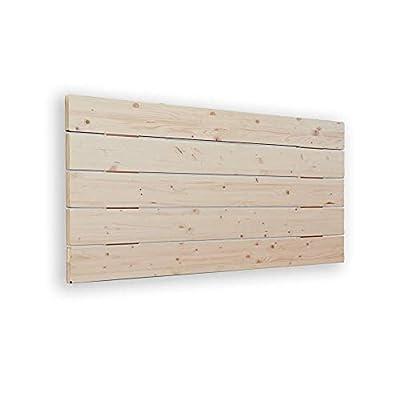 🛌 AVENCO - Cabecero de cama tipo palet. Su material es madera de pino cepillada. Aporta un toque rústico y moderno. 📐MEDIDAS: 160x5x50 cm 🔎TRANSPIRABLE - La parte trasera contiene un tejido TNT de color negro, para hacerlo transpirable. Además, el pr...