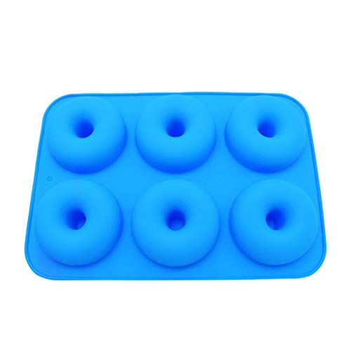 Shybuy Silicone Donut Pan, Non-Stick Mold, Silicone Donut Mold for six Full-Size Donuts, Bagels and More