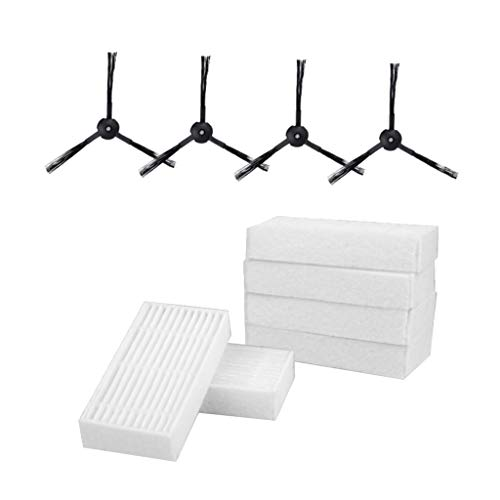 Homozy Conjunto de 10 pçs/escova lateral de filtro Hepa para poeira