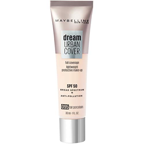 Maybelline New York - Perfecteur de Teint - Protection Anti-UV & Anti-Pollution - Dream Urban Cover - Teinte : Porcelaine Clair (95) - 30 ml
