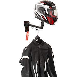 GZM Helmet And Jacket Steel Hanger For Bikers Standard Black, Acciaio Grigio