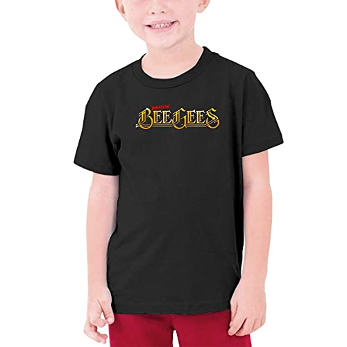 CORINNA BUCKNER Bee Gees Logo Youth Round Neck T-Shirt Black