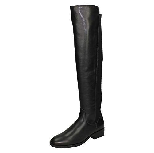 Clarks Pure Caddy Womens Knee High Boots Schwarz 39 EU