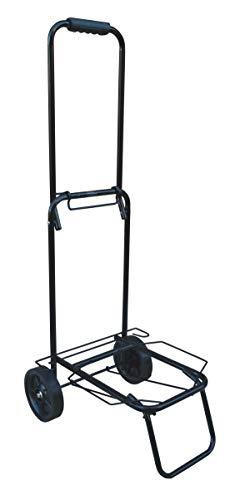 "Acclaim Bowlers Heavy Duty Solid Construction Bowls Tubular Steel Folding Cart 99cm 39"" Handle Black Metal Expanding Base Bowling Luggage Trolley"