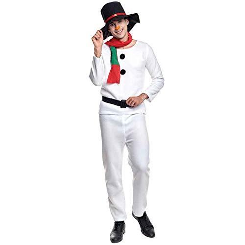 Partilandia Disfraz Muñeco de Nieve Adulto para Navidad S