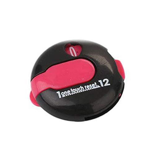Sdkmah9 Golf-Punktezähler, Mini-Schlagzähler, digitaler Zähler, voreingestellter One-Touch-Typ bis zu 12 Aufnahmen, Golf-Mini-Punktezähler, 30 x 29 x 14 mm