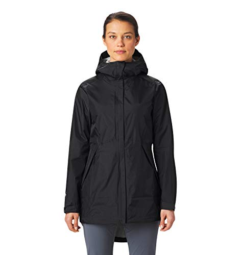 Mountain Hardwear Women's Acadia Parka with Lightweight Waterproof Fabric for Rain Protection When Hiking, Climbing, Camping, and Everyday - Void - Medium