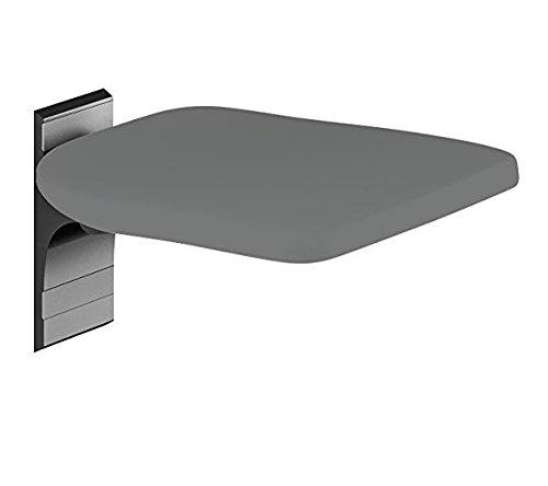 Pressalit R5510112 Dusch-Klappsitz anthrazitgrau, hoch-klappbar, Duroplast Duschsitz für Senioren, behindertengerecht (Belastbarkeit 135 kg, fest-montiert)