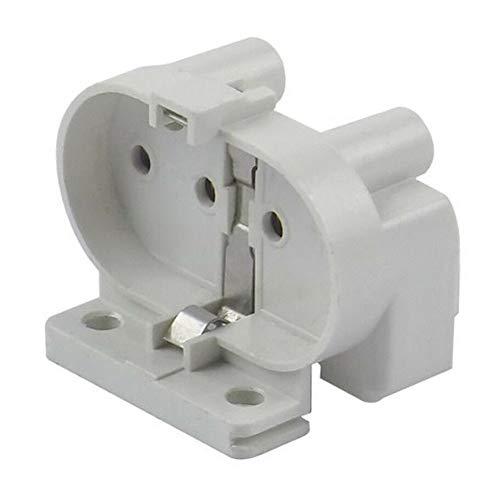 GCDN Base de lámpara Conector Profesional Blanco 4 Pin Durable Instalar 250 V Socket Adaptador Resistente al Calor Luz Titular 2 A Hogar 2G11 e