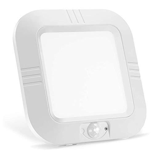 Lámpara LED de techo con detector de movimiento,funciona con pilas,lámpara LED de techo para interior/exterior,180 lm,sensor de fotocélula para armario,armario,sótano,dormitorio,salón,comedor,balcón