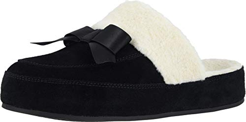 Vionic Women's Sublime Nessie Mule Slipper - Comfortable Backless Spa House Slippers That Include Three-Zone Comfort with Orthotic Insole Arch Support, Soft House Shoes for Ladies Black 9 Medium US