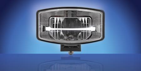 Boreman Full LED lámpara de trabajo con light-bar en plateado brillante