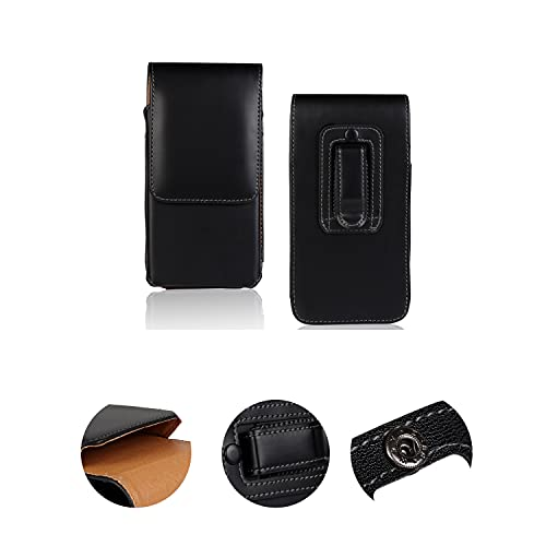 K-S-Trade Holster Gürtel-Tasche Handy-Hülle Schutz-Hülle Kompatibel Mit Huawei P20 Pro Single-SIM Handy Hülle Leder Schwarz, 1x