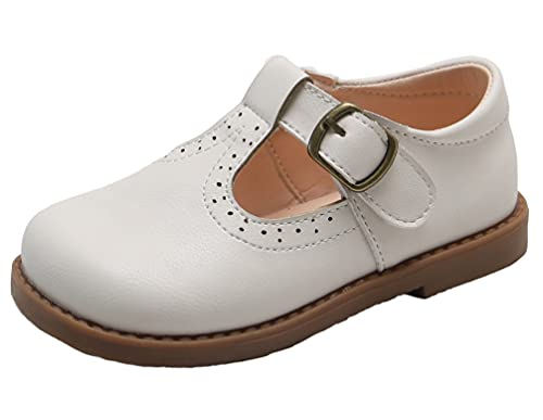 DADAWEN Girl's T-Strap Mary Jane School Uniform Shoes Flat Dress Shoes...