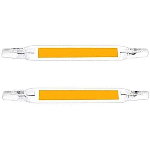 MJLXY 20W 118MM R7S LED Glasröhre Birne R7S Maislampe Halogenlampe Für Flurbeleuchtung Wand Tischbeleuchtung,2 STÜCK,warm White