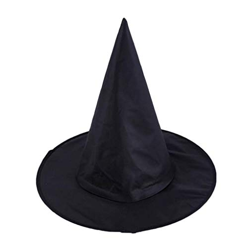 Demino Zwarte Oxford Doek Volwassen Unisex Heks Pinnacle Hoeden Cap Halloween Party Kostuum Accessoire