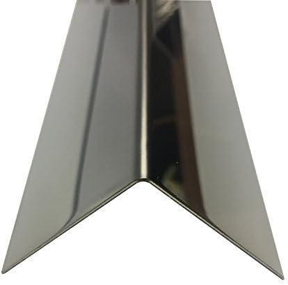 Edelstahl Winkel 2000mm 100x100 mm spiegelpoliert V2A 0,8mm stark Winkelblech Kantenschutz,kreativ bauen 200cm Edelstahl L-Profil Schenkel 10x10 cm
