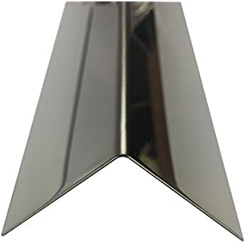 Winkelprofil Edelstahl Kantenschutzprofil 1 Meter Edelstahl Winkel K240,1,5mm stark Kantenschutz Wand 3-fach gekantet 3fach Winkelblech
