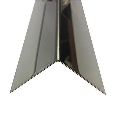 Edelstahl Spiegel Winkel 1500mm 15x15 mm spiegelpoliert V2A 0,8mm stark Winkelblech, Kantenschutz,kreativ bauen 150cm Edelstahl L-Profil Schenkel 1,5x1,5cm