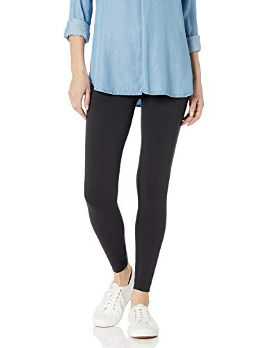 Amazon Brand - Daily Ritual Women's Soft French Terry Legging, Black, X-Large