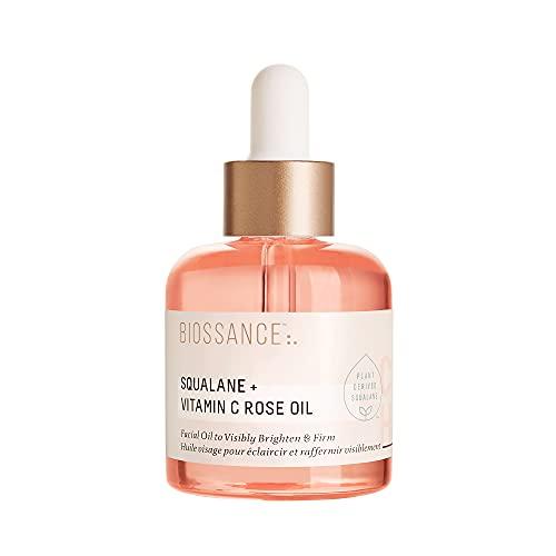 Biossance Aceite facial de escualano + vitamina C para aclarar visiblemente, hidratar, reafirmar y revelar la piel radiante (1 oz)