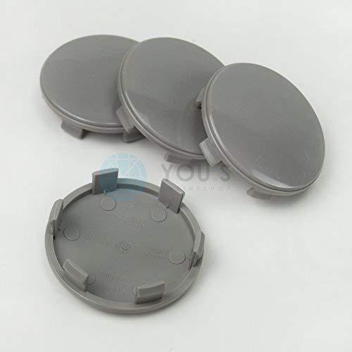4 x Nabenkappen Nabendeckel Felgendeckel 60,0 - 55,5 mm - Z06L - grau