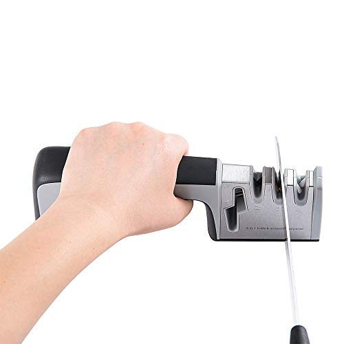 4-in-1 Kitchen Knife Sharpener,4-Stage Knife AccessoriesHelps Repair Professional Knife Sharpening Tool for Kitchen Knives