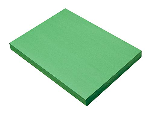 SunWorks Heavyweight Construction Paper, 9 x 12 Inches, Holiday Green, 100 Sheets