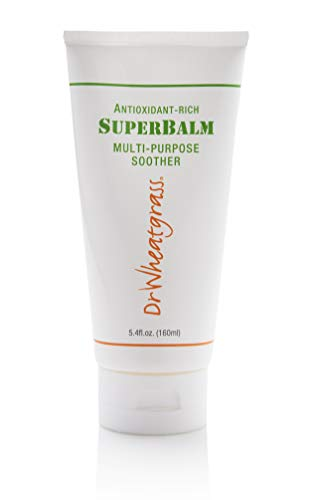 Dr Wheatgrass Superbalm 160ml -Antioxidant Rich, Multi-Purpose Soothing Cream for Stiff Muscle, Soft Tissue Injury, Fissure, Anti-Aging, Arthritis, Muscle/Joint Pain