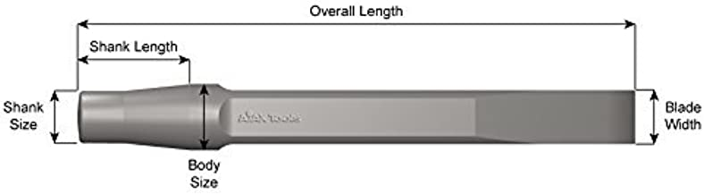 "product image for Ajax Tools 276-18 Flat Chisel, Jumbo Shank, 18"" Length, 15/16"" Blade Width"