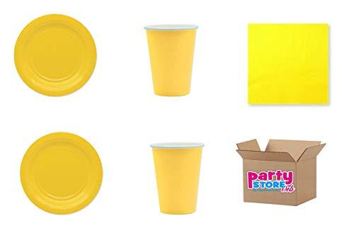 Geel gekalibreerd papier in geel voor party en party lijn ecolor recyclebare en milieuvriendelijke producten van cellulosevrucht.