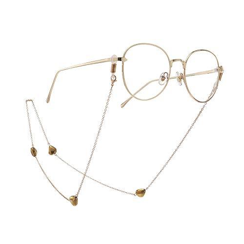 Brillenketting bril-kettinghanger gouden perzik hart kristal glas kettingbril ketting en koorden voor vrouwen zonnebril houder beugel voor vrouwen
