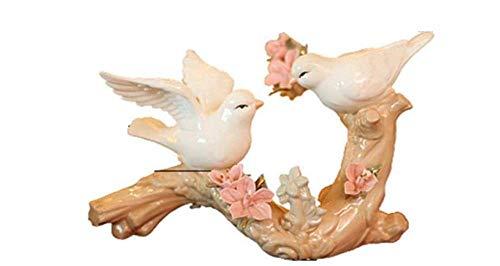 Ceramic Doves Bird Figurines, Desktop Decoration, White Dove Ornament Craft, for Animal Home Decoration
