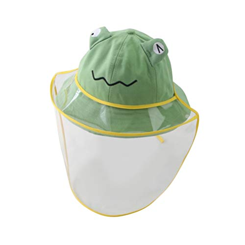 PRETYZOOM Clear Full Face Shield Safety Hat Cute Frog Kids Bucket Hat Anti Fog Anti Splash Proof Face Face Eye Head Protection for Kids Baby Outdoor Green