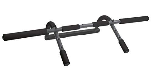 Schildkröt-Fitness Multifunktionstürreck 4 in 1 Barra Fija para Puerta multifunción 4 en 1, Unisex Adulto, Negro y Gris, 960149, Talla única