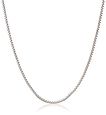 Honolulu Jewelry Company Sterling Silver 1mm Box Chain (19 Inches)