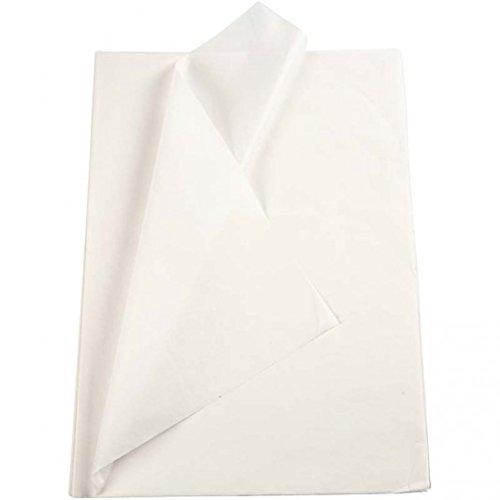 Creavvee Carta Velina 28 fogli formato 50 x 70 cm Bianco