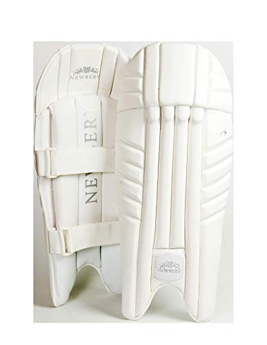 Newbery Cricket Unisex, Jugendliche SPS Wicket Keeping Pads, weiß, Small Senior