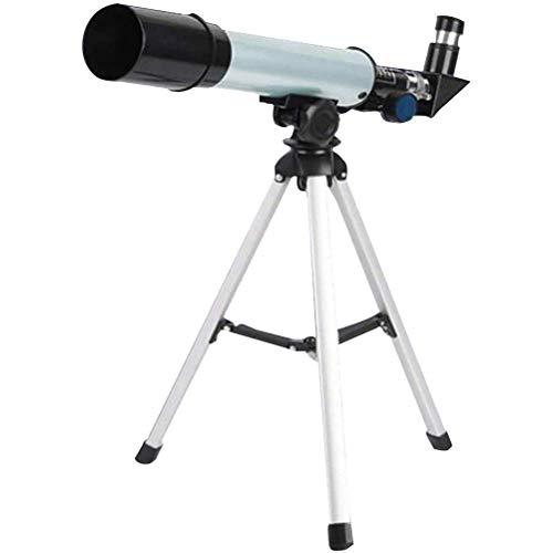 Telescopio astronómico para niños Refractor HD 90X - Apertura de 50 mm Telescopio refractor astronómico 360 mm.f / 7, trípode y tubo buscador y filtro lunar - Telescopio de viaje portátil