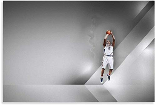 HuGuan Mural con Estampado De Arte Michael Jordan Air Man Papel Jugador De Baloncesto Sala De Estar Decorativa 23.6'X35.4'(60X90Cm) Póster Lienzo Pintura Pared Sin Marco