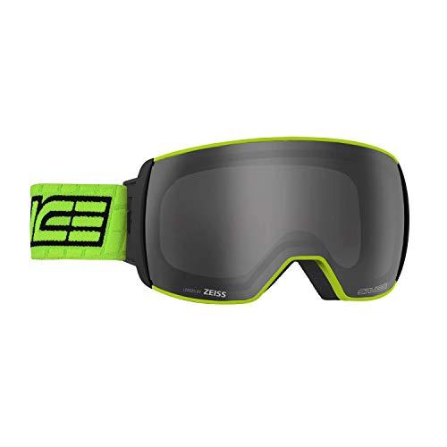 Salice 605DARWF - Máscara de esquí SR + Lente Sonar Lime Doble antivaho Rainbow Negro Unisex Adulto Descripción de la Montura: Lima, única