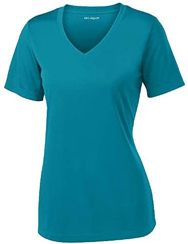 Women's Short Sleeve Moisture Wicking Athletic Shirt-Tropic-XL